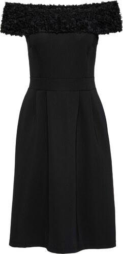 BODYFLIRT boutique Bonprix - robe d été Robe noir manches courtes pour femme 227becb43bec