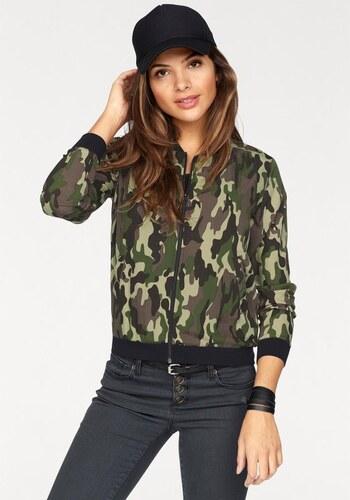 Femme Camouflage Blouson Bomber Style Zippé Ajc Imprimé 0XB8Cq