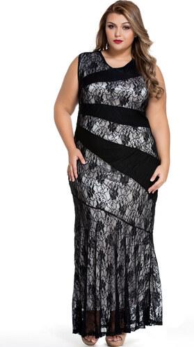 ZAZZA Čierne spoločenské šaty s čipkou - Glami.sk 3212e89957b