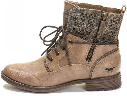 Mustang dámská kotníčková obuv 37 hnědá - Glami.cz d4f6418806