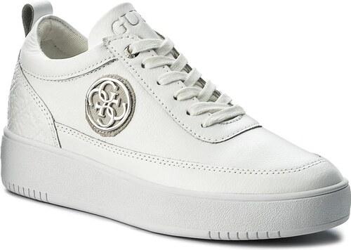 85362fd4da Sneakersy GUESS - Flavia FLFVA3 LEA12 WHITE - Glami.sk