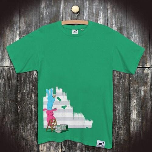9aed495e717a PANDEMIC Pánské vtipné tričko s potiskem Králíci  Zelená bude lepší ...