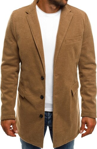Dstreet Béžový pánský kabát - Glami.cz 09fa1cecdca