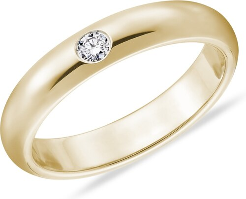Pansky Zlaty Snubni Prsten S Diamantem Klenota Kln7068 Glami Cz