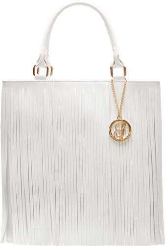 Glamorous by GLAM Dámska kožená kabelka so strapcami - biela - Glami.sk c294d57b3f8