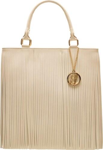 Glamorous by GLAM Dámska kožená kabelka so strapcami - béžová - Glami.sk ac265a306dd