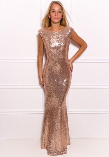 Due Linee Spoločenské luxusné dlhé šaty s flitrami - zlatá - Glami.sk 4c7c3aa7d2c