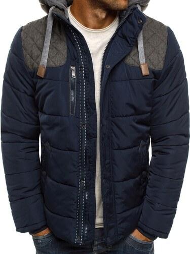 a50df873c2 Pánska granátová zimná bunda so záplatami J.BOYZ X1039K - Glami.sk