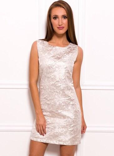 6669728d578a Glamorous by Glam Dámske elegantné šaty zlaté so vzorom - Glami.sk