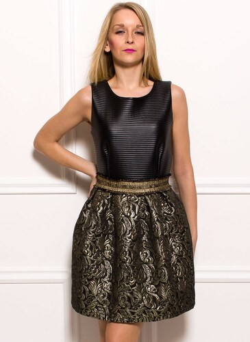 905313015a9 Glamorous by Glam Dámske šaty čierne so zlatou čipkou - Glami.sk