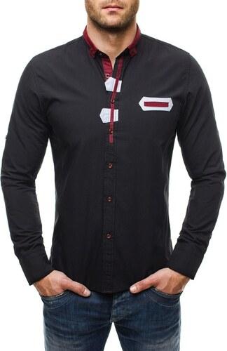 1f764115ef17 Elegantná čierna košeľa Raw Lucci 586 - Glami.sk