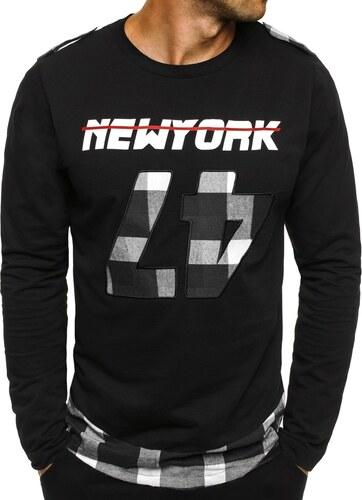 5a8bfe336 Klasické tričko s dlhým rukávom ATHLETIC 757 čierno-biele - Glami.sk