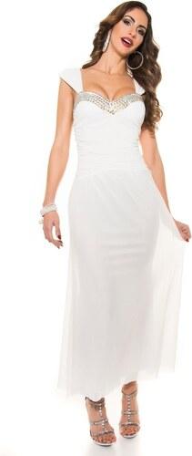 Koucla Dlhé večerné šaty - biele - Glami.sk 7e55510579d