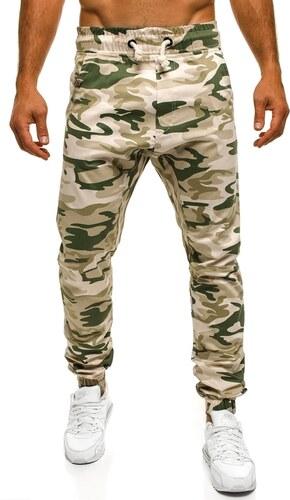 Pánské jogger kalhoty v béžovém maskáči ATHLETIC 367 - Glami.cz 56e6f325b7
