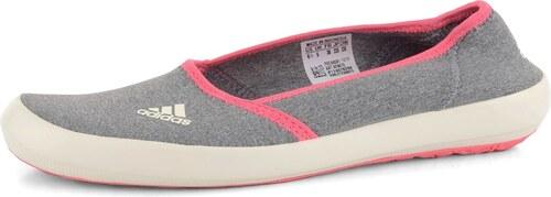 985a68911cd adidas baleríny šedé růžové Boat Slip-On - Glami.cz