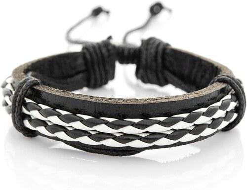 245ba0685 Čierno-biely pletený náramok OZONEE D201 - Glami.sk