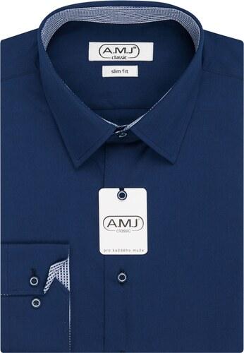 AMJ Pánská košile jednobarevná JDSR87 13 f7b440cdaf