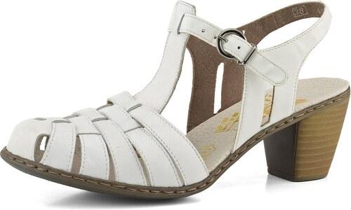 dfc5a1ae2121 Rieker sandály s plnou špičkou bílé 40978-80 - Glami.cz