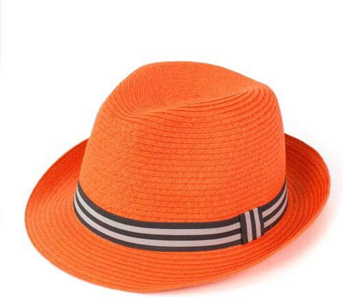 fd973f9b1c0 Art of Polo Měkký trilby klobouk na léto oranžový - Glami.cz