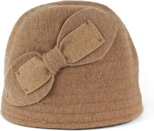Art of Polo Vlněný klobouk s mašlí hnědý - Glami.cz 0ed214ef8b