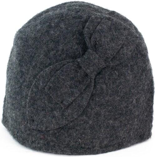 d7d51236b89 Art of Polo Vlněný klobouk s mašlí šedý - Glami.cz