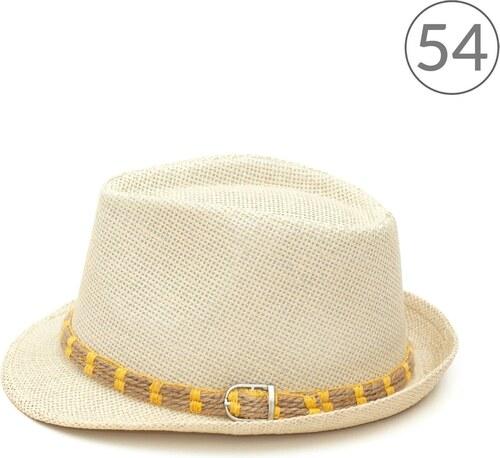 7e51cc23741 Art of Polo Letní trilby klobouk zdobený žlutou dvojitou šňůrkou 54cm