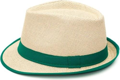e05806d9270 Art of Polo Trilby klobouk béžový se zeleným lemováním - Glami.cz