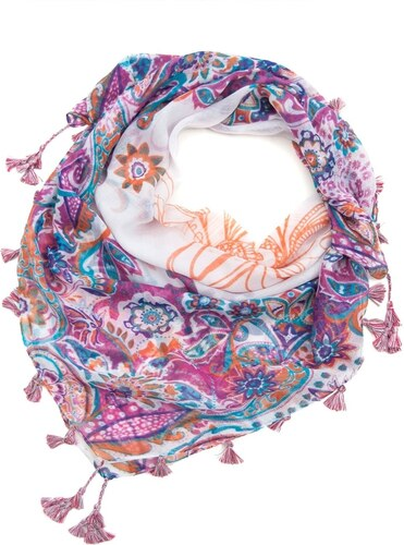 Art of Polo Etno šátek s třásněmi růžový - Glami.cz dd7755a522