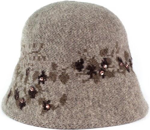 Art of Polo Vlněný dámský klobouk s kamínky hnědý - Glami.cz cf484b129c