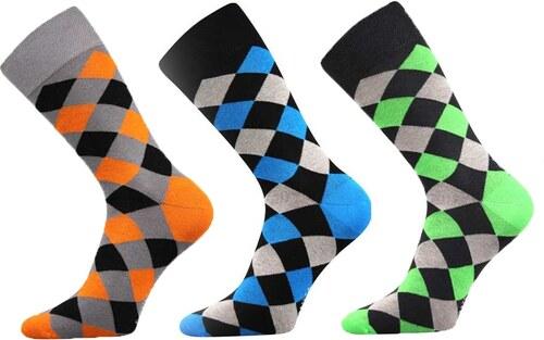 a24733223bd Lonka luxusní ponožky kárované 3 páry - Glami.cz