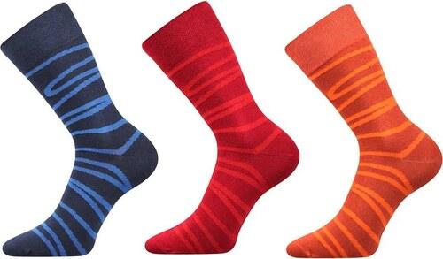 4b0a6cf7ddf Lonka luxusní ponožky pruhované 3páry - Glami.cz