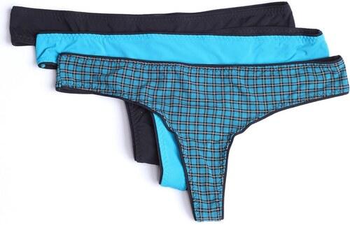 DIESEL Dámské kalhotky tanga DIESEL dárkové balení 3 kusy tyrkysové ... 85a03787a6