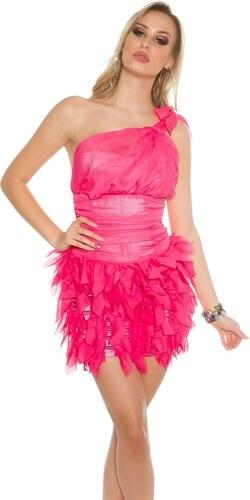 Koucla Dámské růžové koktejlové šaty - Glami.cz b798085ffe