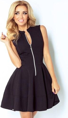 Numoco Černé šaty s dlouhým zipem ve výstřihu a kapsami - Glami.cz 10ca01f4d4c
