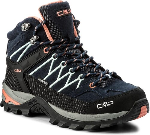 e4188675e0 Bakancs CMP - Rigel Mid Wmn Trekking Shoes Wp 3Q12946 B. Blue/Giada/Peach  92AD