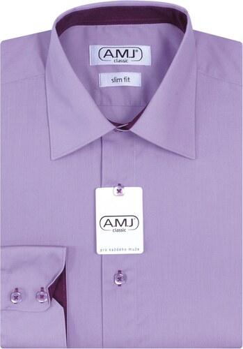 AMJ Pánská košile jednobarevná JDPSR62 e2fcf48f1b
