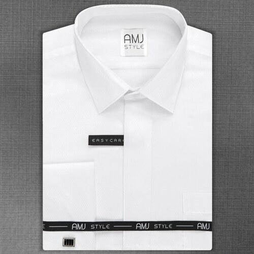 AMJ Pánská košile na manžetové knoflíčky 4d66fa7f14