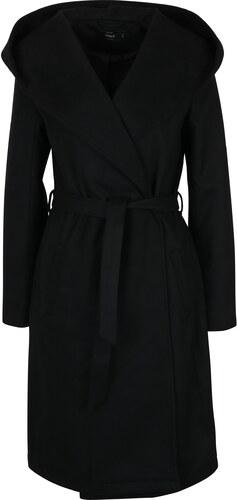 3f0212df2b Čierny kabát s kapucňou ONLY Phoebe - Glami.sk
