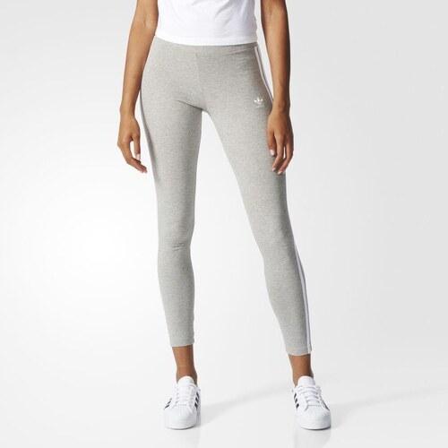 Adidas Originals Legíny 3-STRIPES šedá - Glami.cz e22c660e29