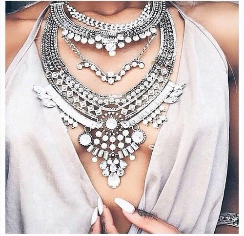 69bff53fc ZAZZA Masívny náhrdelník Chiara v striebornej farbe - Glami.sk