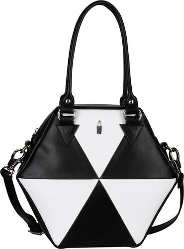 Trendové kožené kabelky přes rameno černobíle Rosalinda 31738 LY01 LY17  Wojewodzic 370ae01cf68