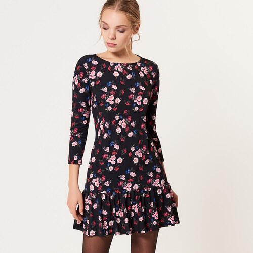 Mohito - Květované šaty s volánem - Černý - Glami.cz 832cf3b2832