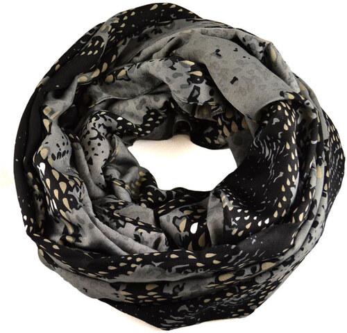 c8d069a532f Tunelová šála 69tu007-71.70b - šedočerná hadí kůže - Glami.cz