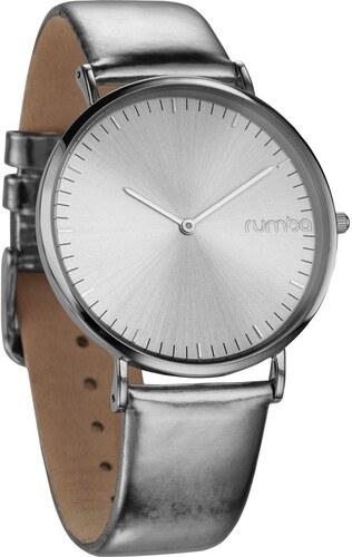 Dámské hodinky s koženým řemínkem ve stříbrné barvě Rumbatime Chelasea  Lights cbf72a771cc