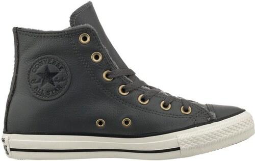 Kožené Converse Chuck Taylor All Star Leather šedá - Glami.cz c80a336c6a