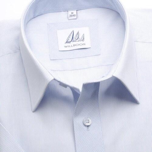 20cfc9674fbf Willsoor Pánska slim fit košele (výška 176-182) 6410 v biele farbe s ...