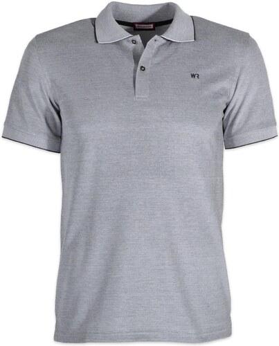 64e309f5ddf9 Pánske polo tričko Willsoor (veľkosť XXXL - 5XL) 6444 v šedé farbe s krátkym