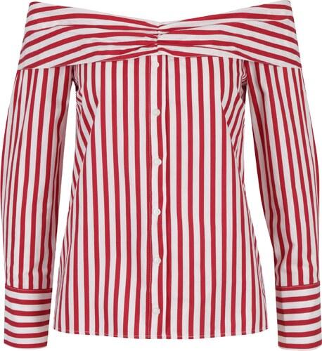 Krémovo-červená halenka s odhalenými rameny Miss Selfridge - Glami.cz d97d4cff96