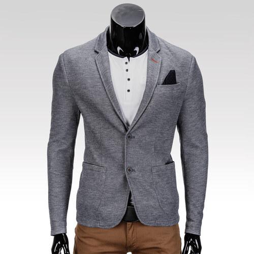 Ombre Clothing Pánske sako slim fit Liam grafitové - Glami.sk 3f72df117ef