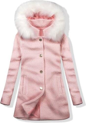 Butikmoda Fehér és rózsaszínű gyapjú őszi kabát 1950 - Glami.hu 8b638a83c2